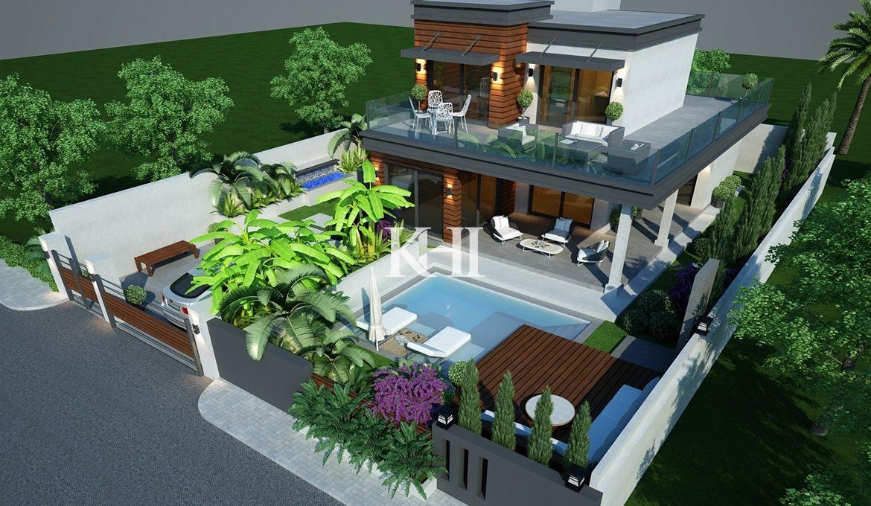 Detached New Villa In Ciftlik