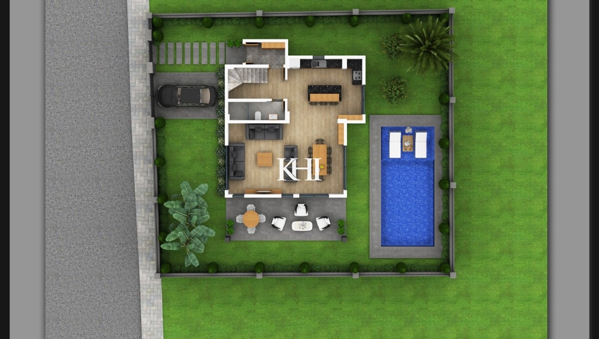 New Villa For Sale in Ovacik detached villa in Ovacik