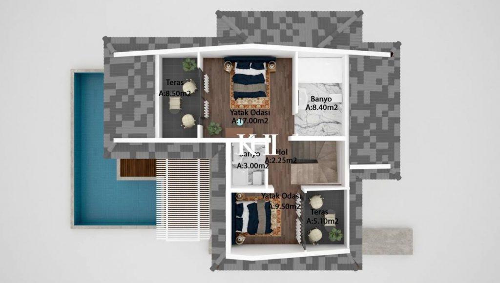 Brand New 6 Bedroom Villas detached villas for sale in Calis